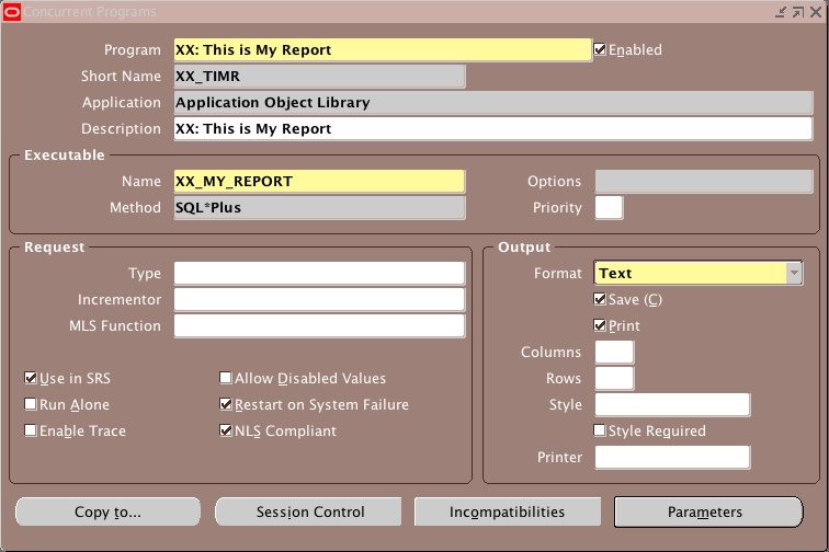 how to create a report that execute a query to retrive the active responsibility assignments 02 HOW TO: Create a Report that Executes a Query